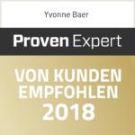 Proven Expert Kunden Empfohlen Yvonne Baer