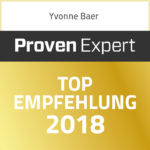 Proven Expert TOP Empfehlung Yvonne Baer